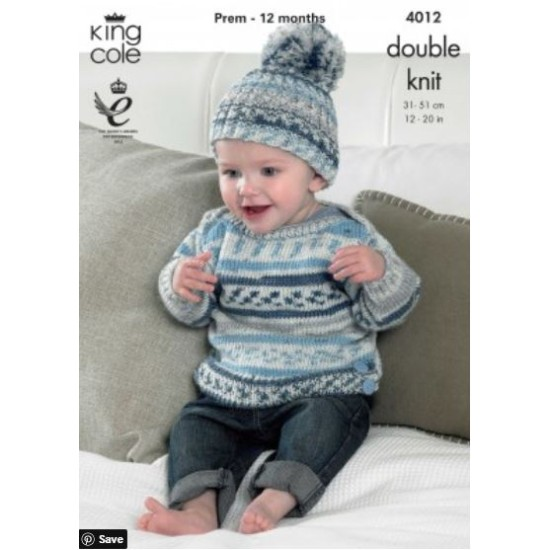 Baby Set Knitted with Cherish DK - 4012