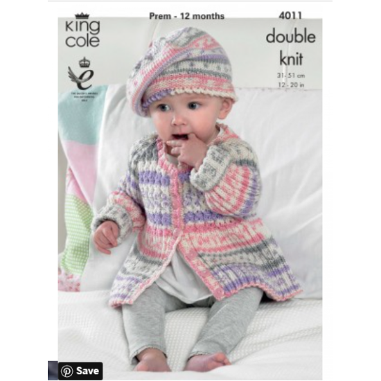 Baby Set Knitted with Cherish DK 4011