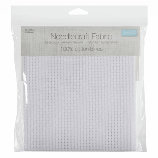 Binca 6 Count Pack Size 48 x 60cm White