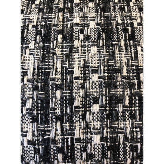 Carole Black and Grey Boucle Check 150cm