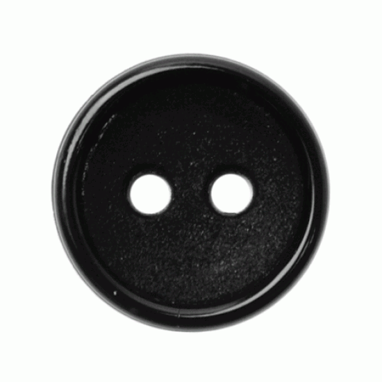 Black Resin, 14mm 2 Hole Button