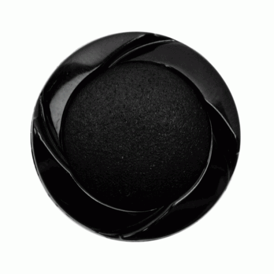 Black Resin Mixed Texture, 23mm Shank Button