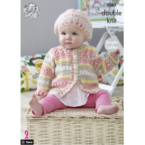 Blankets, Sweaters, Cardigans & Hats Knitted in Cherish & Cherished DK - 5082