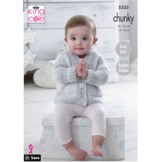 Cardigans & Sweater Knitted in Big Value Baby Soft Chunky - 5325