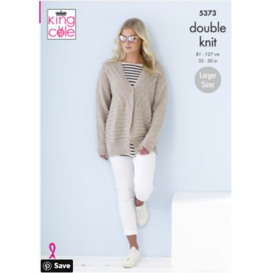Cardigans Knitted in Cotton Top DK 5373