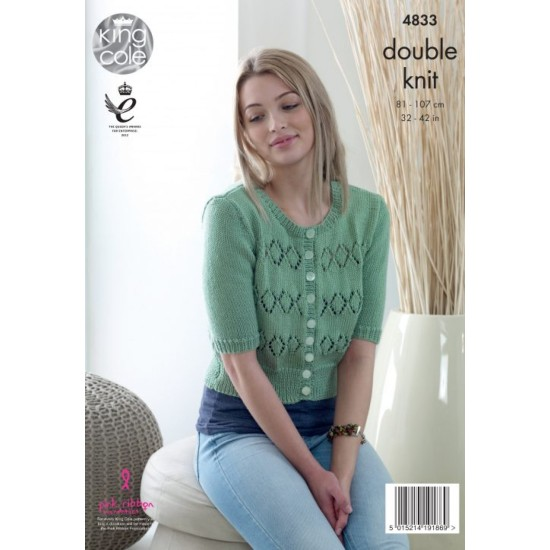 Cardigans knitted with Smooth DK - 4833