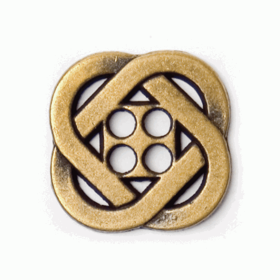 Celic Gold Metal, 15mm 4 Hole Button