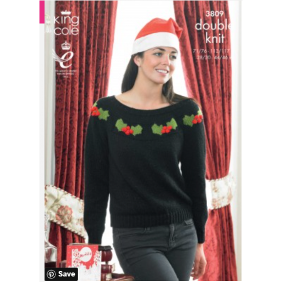 Christmas Sweaters Knitted with Big Value DK and Glitz DK - 3809