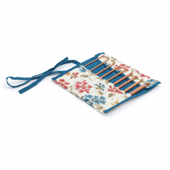 Crochet Hook Roll Filled with Bamboo Hooks - Fairfield Flowers
