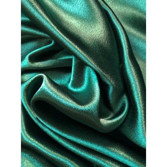 Dark Green Polyester Satin
