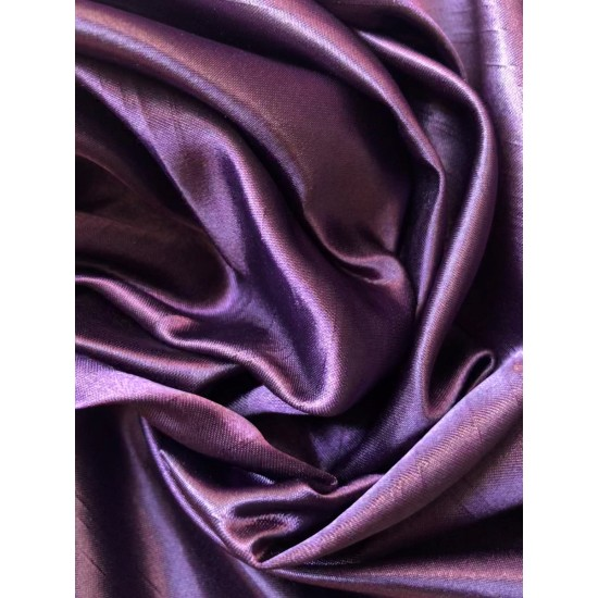 Dark Purple Polyester Satin