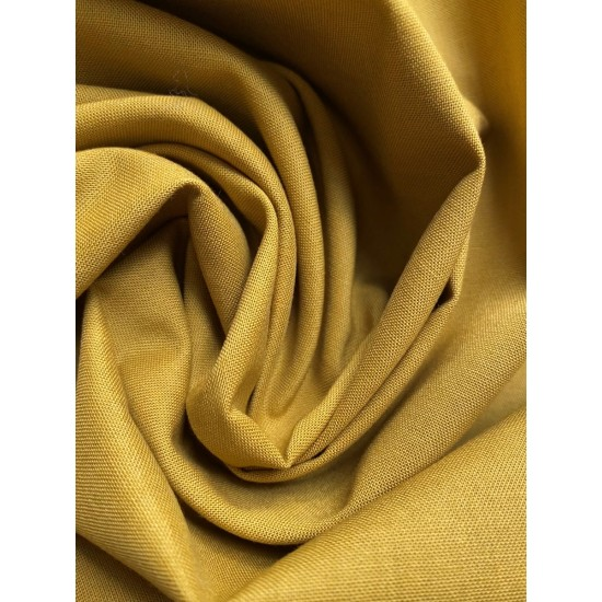 Dijon Mustard 100% Cotton, Plain