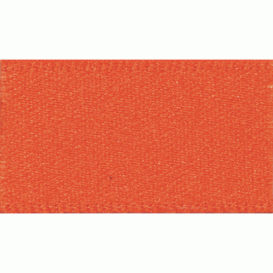 Double Faced Satin Ribbon 10mm, Flame Orange