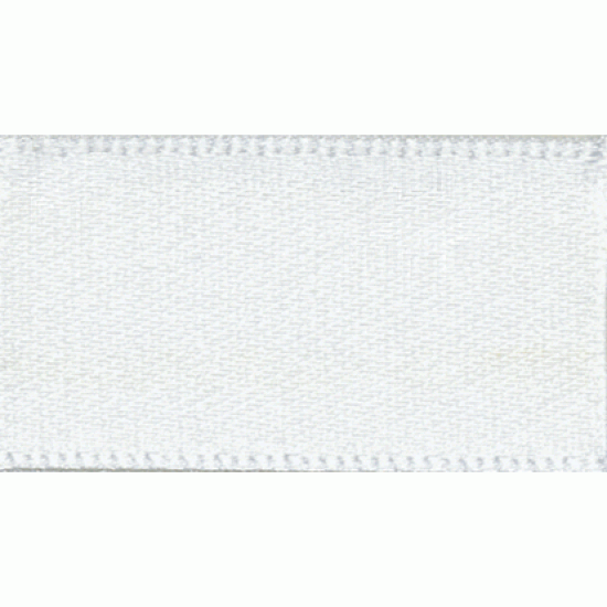 Double Faced Satin Ribbon 10mm, White