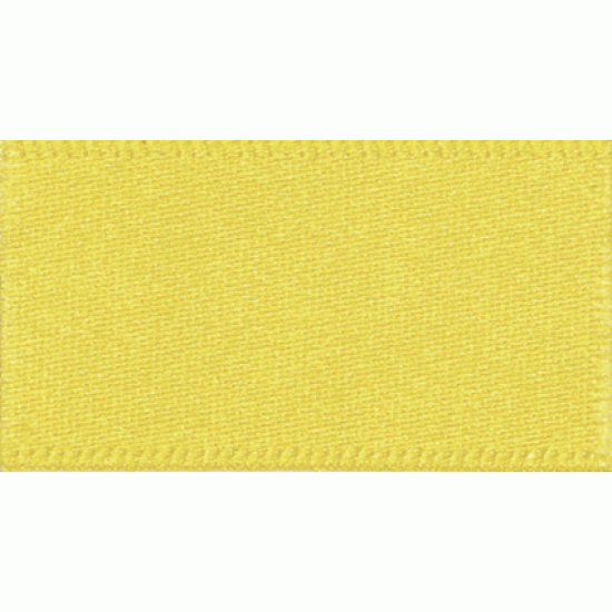 Double Faced Satin Ribbon 10mm, Yellow