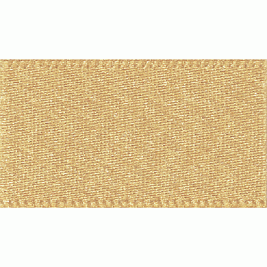 Double Faced Satin Ribbon 25mm, Honey Gold
