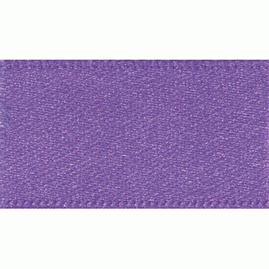 Double Faced Satin Ribbon 25mm, Purple