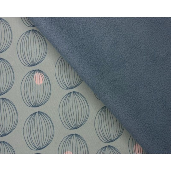 Geometric Circle Soft Shell backed with Fleece 100% Polyester 144cm Wide