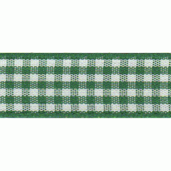 Gingham, 15mm, Hunter Green
