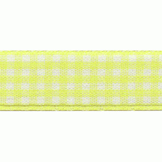 Gingham, 15mm, Lemon