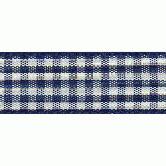 Gingham, 25mm, Blue