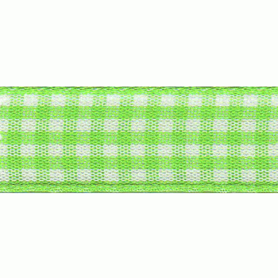 Gingham, 5mm, Lime