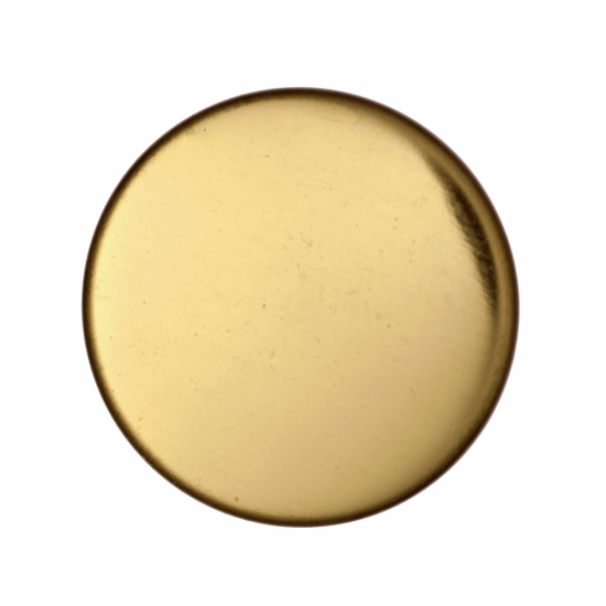 Gold Metal, 13mm Shank Button