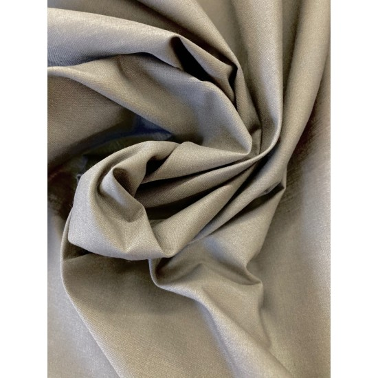 Grey Polycotton 112cm Wide 80% Polyester, 20% Cotton