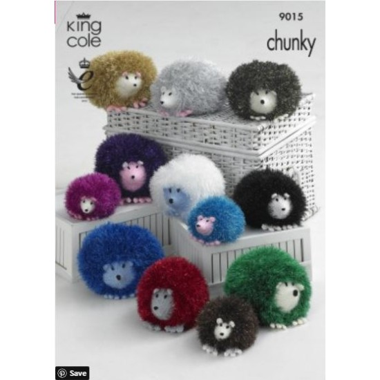Hedgehog Knitted with Tinsel Chunky & Dollymix DK - 9015