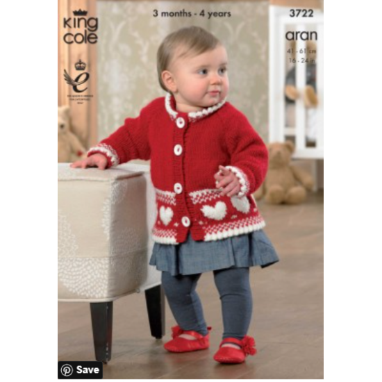 Jacket, Cardigan and Sweater Knitted in Comfort Aran - 3722