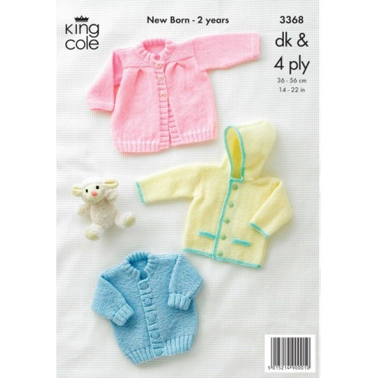 Jackets and Coat Knitted in Big Value Baby 4Ply/DK - 3368