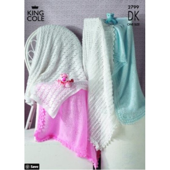Shawls Knitted in any King Cole DK - 2799